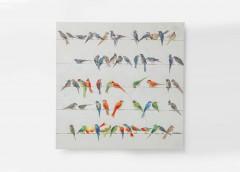 BIRDS MEETING Dipinto 100X100