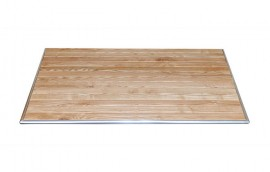 Piano rettangolare DOGHE LEGNO 120x70 per tavolini