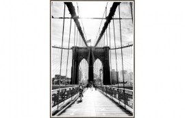 BROOKLYN BRIDGE Stampa incorniciata 50x70
