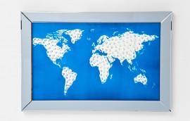 MIRROR MAP Quadro in vetro 90X60