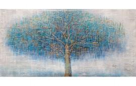 ALBERO BLU Dipinto 140X70
