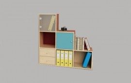 CUBO libreria a 6 caselle scalare