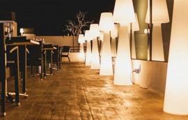 DIVINA lampada da terra per esterno/interno