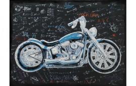 SCHOOL MOTORBIKE Dipinto 120X90