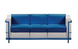 HALL COLOUR divano 3 posti struttura blu