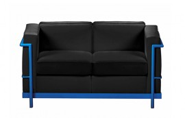 HALL COLOUR divano 2 posti struttura blu