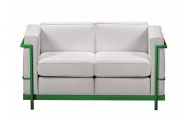 HALL COLOUR divano 2 posti struttura verde