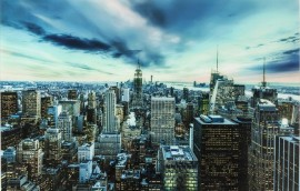 NEW YORK SUNSET Quadro in vetro 160X120
