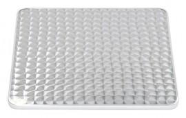 Piano quadrato ACCIAIO INOX L=80 per tavolini