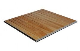 Piano quadrato DOGHE LEGNO L=80 per tavolini