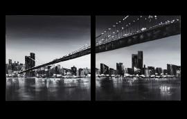 NY BRIDGE Coppia di dipinti cm.80x80/cad