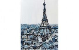 BLUE PARIS Dipinto 90x120