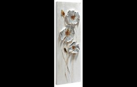 SILVER FLOWERS 2 Dipinto 30X90