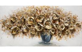 METAL FLOWERS Dipinto 120X60